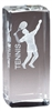 Jr. Collegiate<BR> Male Tennis<BR> Crystal Trophy<BR> 4.5 Inches