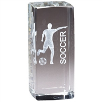 Jr. Collegiate<BR> Female Soccer<BR> Crystal Trophy<BR> 4.5 Inches