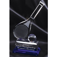 Premium Tennis<BR> Crystal Trophy<BR> 10 Inches