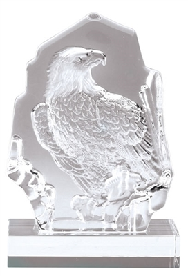 Crystal Eagle Trophy <BR> 7.5 Inches