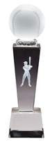Collegiate Baseball<BR> Crystal Trophy<BR> 8.75 Inches