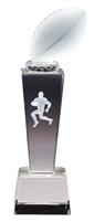 Collegiate Football<BR> Crystal Trophy<BR> 8.75 Inches