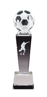 Collegiate Male Soccer<BR> Crystal Trophy<BR> 8.75 Inches