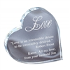 Premium Heart<BR> Crystal Trophy<BR>  4.5 Inches
