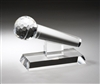 Premium Microphone<BR> Crystal Trophy<BR> 7.5 Inches