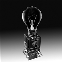 Premium Crystal<BR> Lightbulb Trophy<BR> 8 Inches