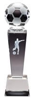 Collegiate Female Soccer<BR> Crystal Trophy<BR> 8.75 Inches