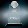 Apex Golf<BR> Crystal Trophy<BR> 9 Inches