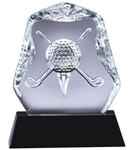 Cross Golf Club<BR> Crystal Trophy<BR> 4.5 to 7 Inches