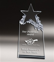 Star Mountain<BR> Crystal Trophy<BR> 6.5 to 9 Inches