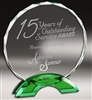 Premium Green Round<BR> Crystal Trophy<BR> 6.75 to 8.5 Inches
