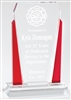 Red Victory<BR> Premium Crystal Trophy<BR> 7 to 10 Inches