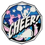Decagon Cheer Medal<BR> 2 Inches
