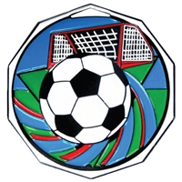 Decagon Soccer Medal<BR> 2 Inches