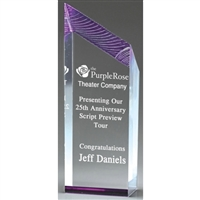 Premium Glacier<BR> Purple Acrylic Trophy<BR> 6 to 10 Inch