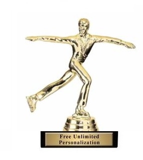 M Figure Skater Trophy<BR> 5 Inches