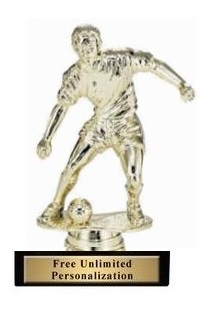 Soccer Dribble<BR> Male Trophy<BR> 6 Inches