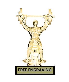Bench Press<BR> Weightlifting Trophy<BR> 6.25 Inches