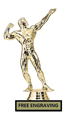 Bench Press<BR> M Bodybuilding Trophy<BR> 6.25 Inches