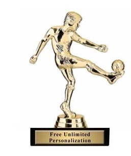 Soccer Kick<BR> Male Trophy<BR> 5.75 Inches