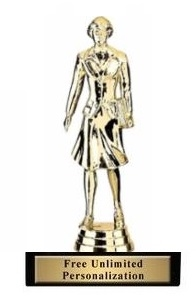Saleswoman <BR> Gold Trophy<BR> 6.75 Inches
