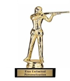 Female Trap Shooter Trophy<BR> 6 Inches