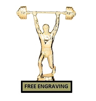 Overhead Press<BR> Weightlifting Trophy<BR> 6.75 Inches