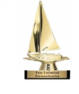 Sailboat Trophy<BR> 6 Inches