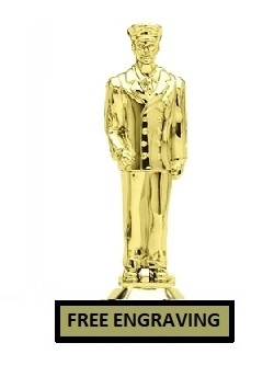 Dress Fireman Trophy<BR> 6 Inches