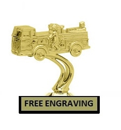 Fire Engine Trophy<BR> 5.25 Inches