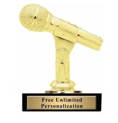 Microphone Trophy<BR> 4.75 Inches