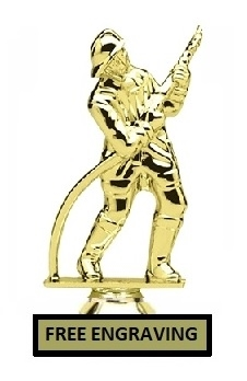 Fireman with Hose Trophy<BR> 5.75 Inches