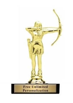 Female Archery Trophy<BR> 6 Inches