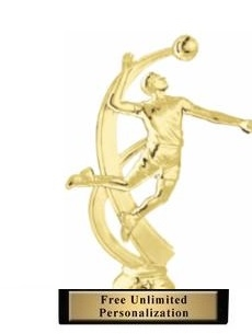Motion Male<BR> Volleyball Trophy<BR> 7.25 Inches