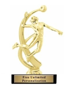 Motion Female<BR> Volleyball Trophy<BR> 7.25 Inches
