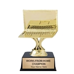Computer<BR> Gold Trophy<BR> 3.75 Inches