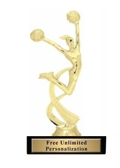 Motion Cheer Trophy<BR> 6 Inches<BR> Male or Female