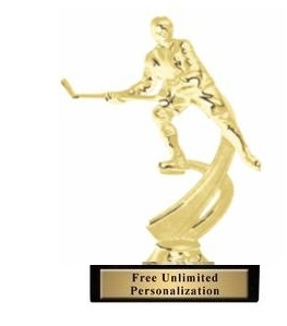 Motion Ice Hockey Trophy<BR> 6 Inches<BR> Male or Female