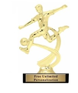 Motion Male<BR> Soccer Trophy<BR> 7 Inches