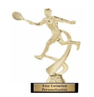 Motion Male<BR> Tennis Trophy<BR> 6.75 Inches