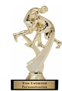 Motion Wrestler Trophy<BR> 6 Inches