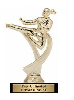 Motion Female<BR> Karate Trophy<BR> 6.75 Inches
