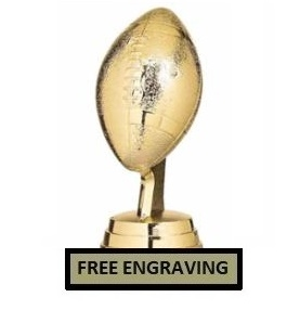 Mini Football <BR> Gold Trophy<BR> 3.75 Inches