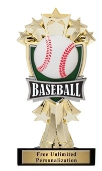 Baseball All-Star<BR> Gold Trophy<BR> 7.25 Inches