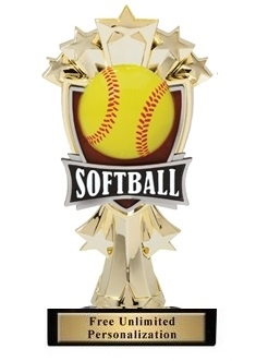 Softball All-Star<BR> Gold Trophy<BR> 7.25 Inches