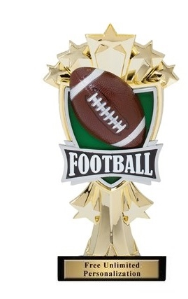 Football All-Star<BR> Gold Trophy<BR> 7.25 Inches