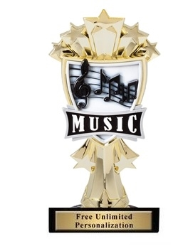 Music All-Star<BR> Gold Trophy<BR> 7.25 Inches