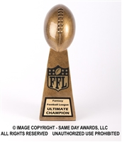 Gold Lil Vince<BR> Football Trophy<BR> 10.75 Inches