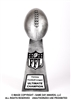 Silver Lil Vince<BR> Football Trophy<BR> 10.75 Inches