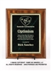 Walnut Finish Plaque<BR> Economy Corporate<BR> Green Mist and Gold<BR> 7x9 to 9x12